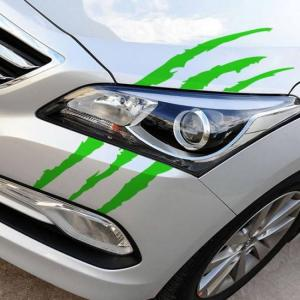 Reflective monster scratch stripe claw marks auto headlight decoration car vinyl decal