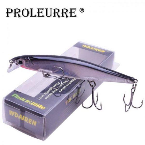 Proleurre 1PCS Minnow Fishing Lure Laser Hard Artificial