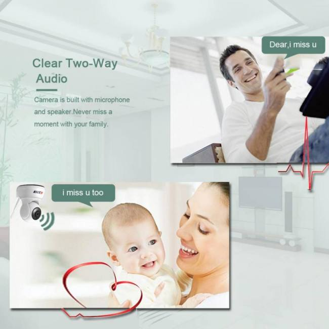 BESDER HD 720P Home Security IP Camera Two Way Audio
