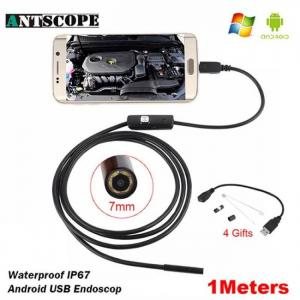 7mm/5.5mm 1m endoscope mirco usb 2m 6led endoscope camera android waterproof pipeline pcb pc inspection mini camera