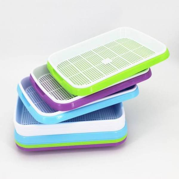FREE SHIPPING Vegetables Sprouts Seedling Tray Sprout Plate Hydroponics System To Grow Nursery Pots Tray Vegetable Seedling Pot Basket