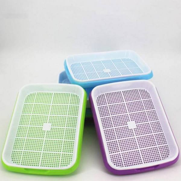 FREE SHIPPING VICTMAX 3 Colors 2sets Double-Layer  Sprouter Nursery Tray Seed Pots Hydroponics Basket Flower Plant Germination Tray Box Basket