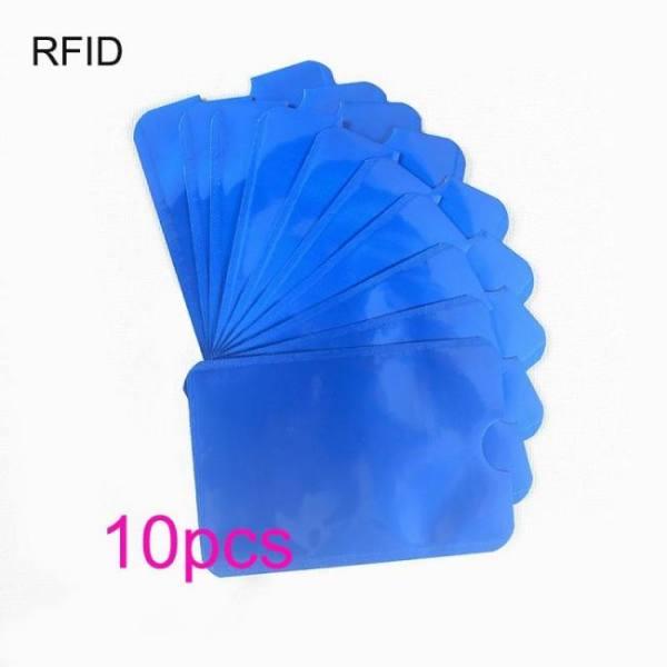 FREE SHIPPING 10pcs Colorful Anti Rfid Wallet Blocking Reader Lock Bank Card Holder Id Card Case Protection Metal Credit Card Bag Aluminium Free shipping