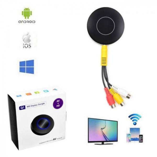 FREE SHIPPING Wireless Wifi Screen Push Cast Display Tablet PC AnyCast DLNA Airplay Dongle Sharing to HDTV Free shipping