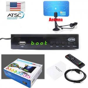 Terrestrial atsc digital tv converter box 1080p hdmi hdtv analog 3/4ch clear qam cable receiver tv tuner indoor vhf uhf antenna
