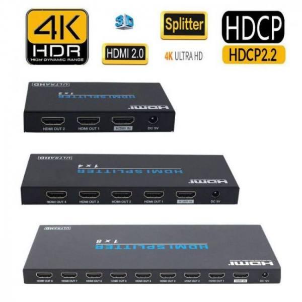 Automate HDCP 2.2 EDID 4K 2K 3D HDMI 1×2 1×4 1×8 HDMI 2.0 Splitter Amplifier Audio Video Converter 2 4 8 Port Repeater Split Display HDTV 1x2