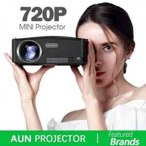 FREE SHIPPING AUN C80  HD MINI Projector, 1280x720P, Video Beamer 1080P, HDMI, USB 1080p