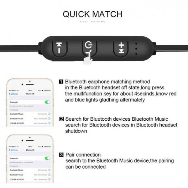 Earphones Wireless Bluetooth Earphone Stereo Headphones Audifonos Bluetooth Sports Headset For Xiaomi iPhone Samsung Ecouteur Auriculares Free shipping