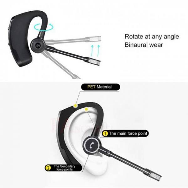 Business bluetooth car earpiece hands free with mic ear-hook earphone headset