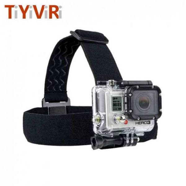 For go pro accessories action camera tripod headband head strap professional mount helmet for sjcam sport cam