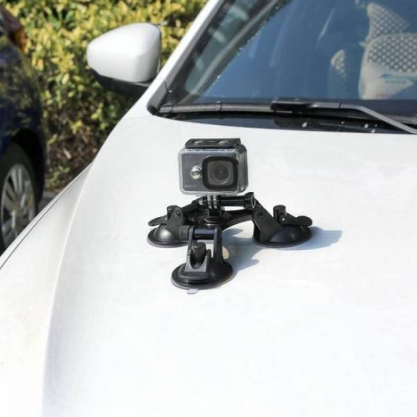 Accessories SHOOT Large/Small Size Car Windshield Suction Cup for GoPro Hero 6 5 7 Session Sjcam H9 Yi 4K Action Camera Tripod Holder Mount Free shipping