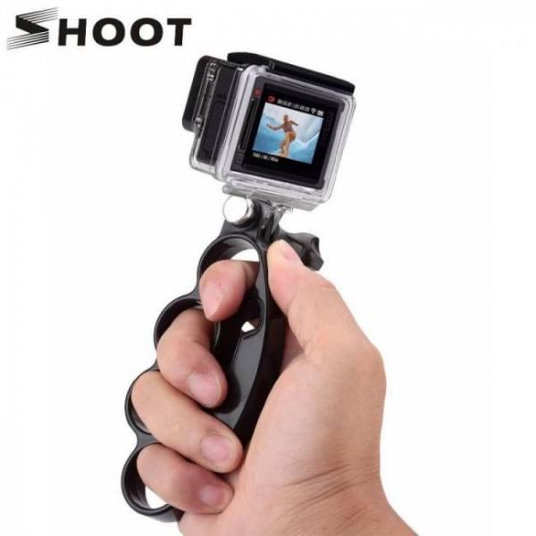 Shoot handheld knuckle finger grip mount selfie accessory for gopro hero 6 7 5 4 3 xiaomi yi 4k sjcam soocoo eken h9 action cam