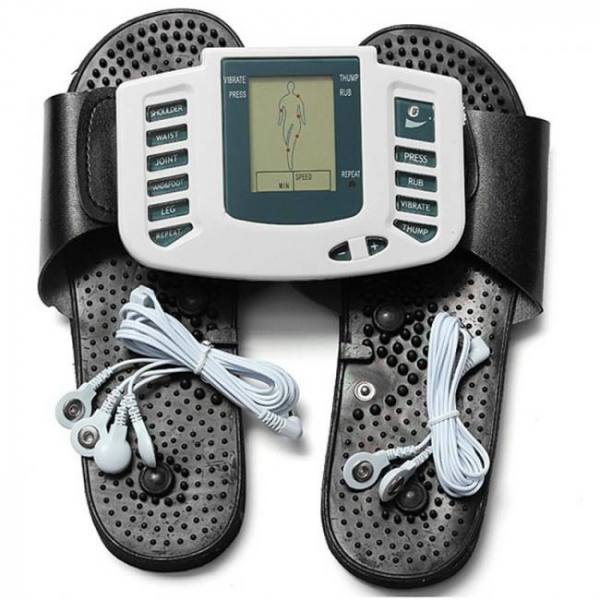 Acupuncture Whole Body Therapy Massager Tens Unit Machine Electronic Pulse Relax Muscle Stimulator + Foot Massage Slippers Box Packing Body
