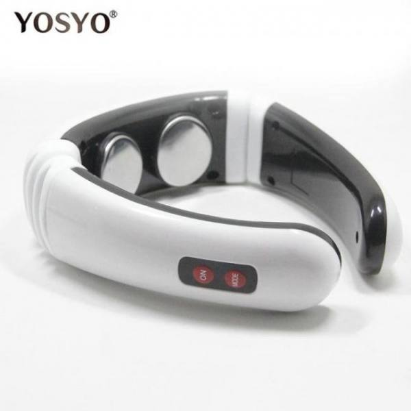 Portable electric pulse back and neck massager far infrared heating pain relief tool health care relaxation