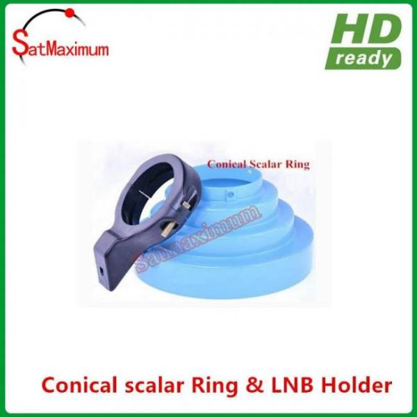 C-Band Conical Scalar ring with C Band LNB Holder bracket 65MM diameter 65MM