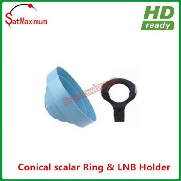 Conical scalar ring with c band lnb holder bracket 65mm diameter