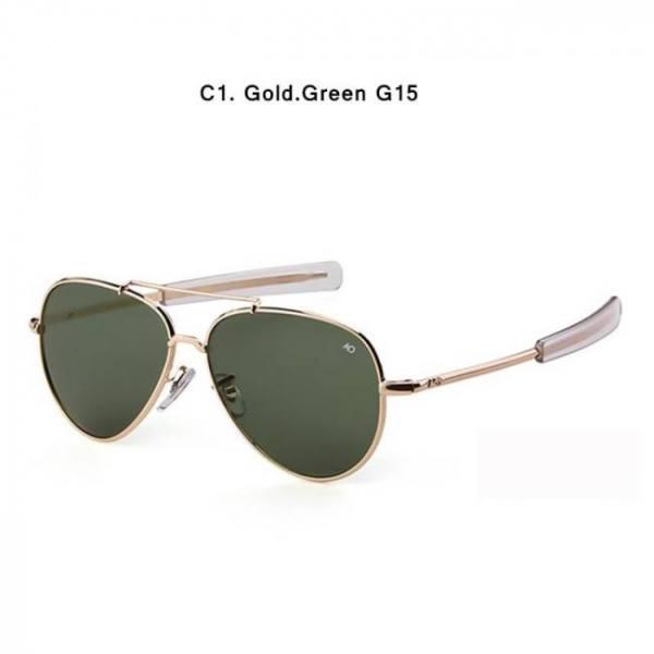 Car Motorbike HBK Army MILITARY MacArthur Aviation Style AO General Pilot American Optical Glass Lens Men Sun Glasses Oculos De Sol K40024 American