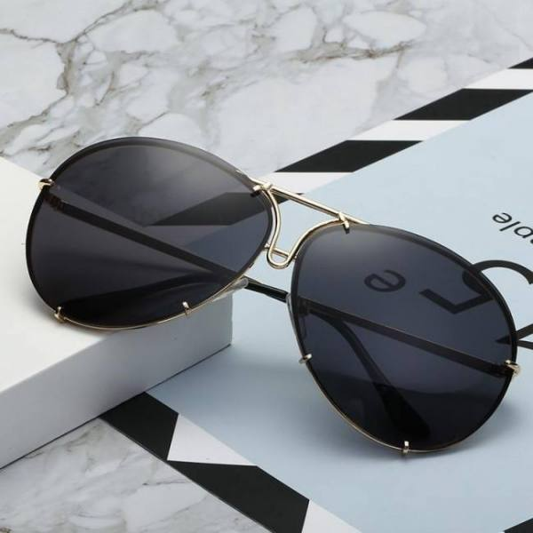 Sozo tu oversize sunglass women rimless big sunglasses women ladies large aviation sunglasses female oversized glasses