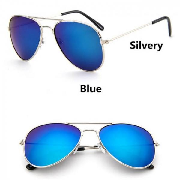 Car & Motorbike Kocotree Fashion Kids Aviator Sunglasses Kids Boys Girls Classic Design Silver Frame Blue Lens Pilot Sun Glasses For Children American