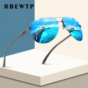 Rbewtp alloy frame classic driver sunglasses polarized coating mirror frame eyewear aviation sun glasses for women men