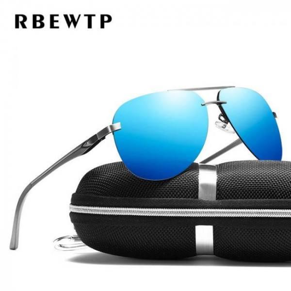 Rbewtp alloy frame classic driver sunglasses polarized coating mirror frame eyewear aviation sun glasses for women men