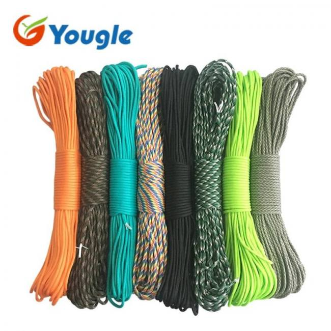 3.5-4mm 100FT 550 Parachute Cord Paracord 7 Strands Cores Lanyard Outdoor Supply
