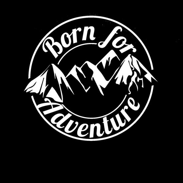 Cool graphics born for adventure vinyl decal sticker car caravan camper van car accessories motorcycle helmet car styling