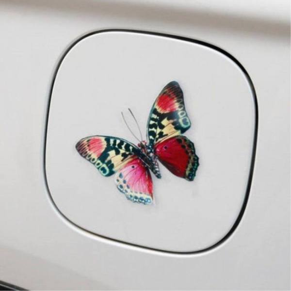 Accessories 3D Car Stickers Beautiful Butterfly Personality Creative Waterproof Car Decals Removable Automobiles Motorcycle Car Accessories 3D