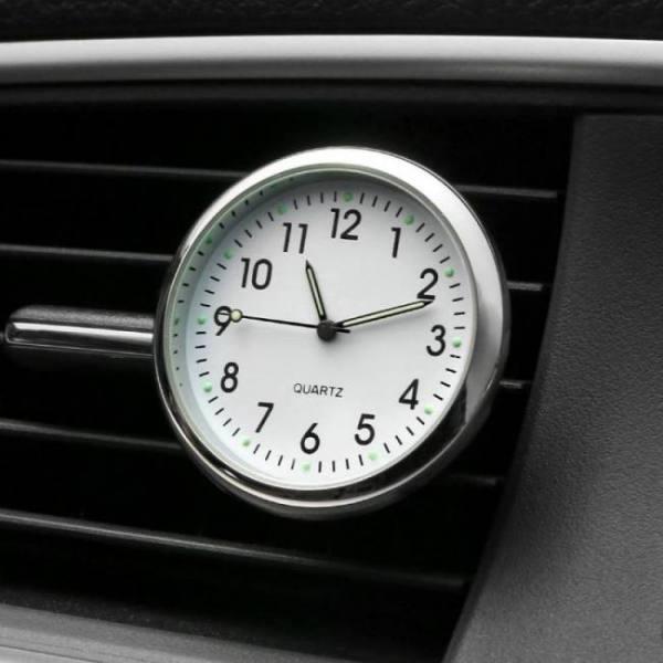 Car ornament automobiles interior decoration clock auto watch automotive vents clip air freshener