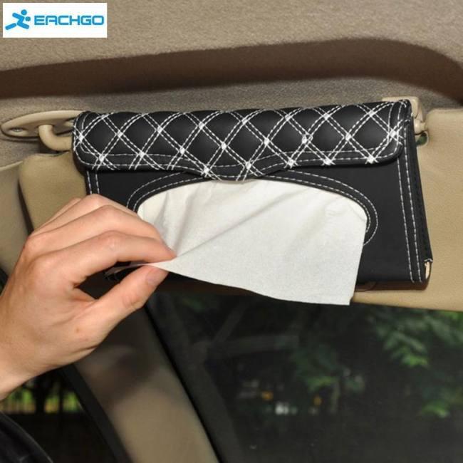 Car Visor Tissue Box Car Accessories Clipboard Tissue Boxes Napkin Holder Auto Parts Sadoun