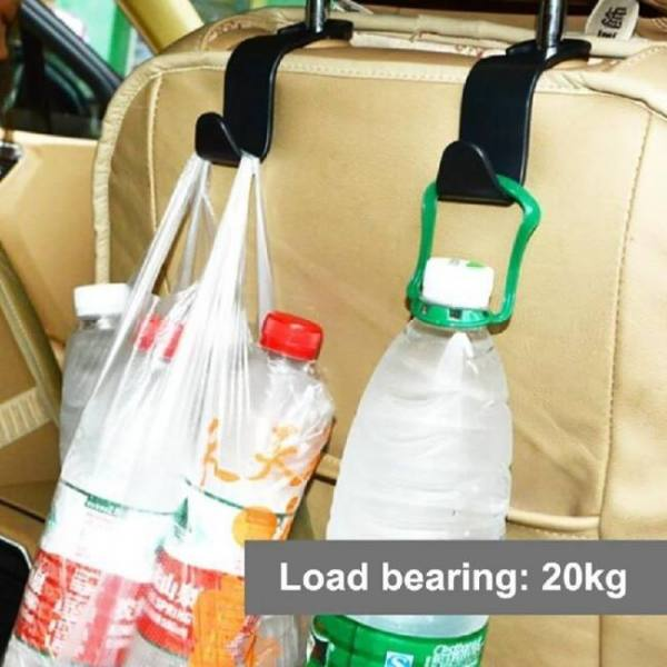 Car seat back hooks vehicle hidden headrest hanger for handbag shopping bag coat storage hanger car accessories hook organizer