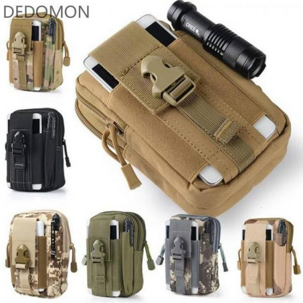 Biking Tactical Molle Pouch Belt Waist Pack Bag Small Pocket Military Waist Pack Running Pouch Travel Camping Bags Soft back back