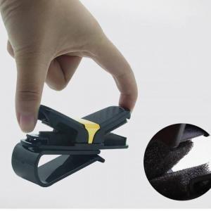 Car glasses clips carbon fiber card pen holder 180 degree rotate dual side clips sun visor vehicle accessory car organizer clips