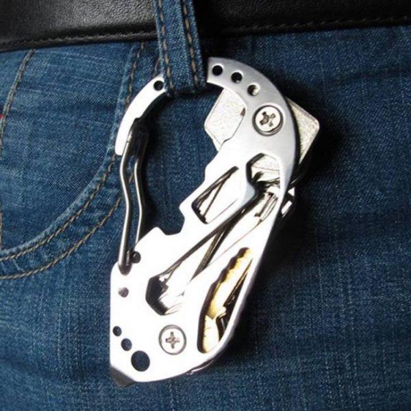 Biking Multifunction EDC tool stainless steel Key Holder Organizer Clip Folder Keyring Keychain Case Outdoor Survival travel tool Case
