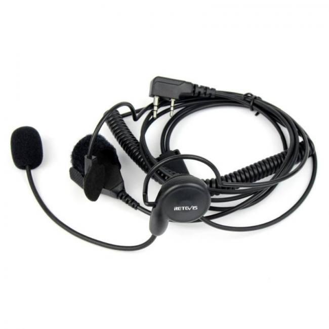 2 Pin PTT Earpiece Headset Mic for Baofeng UV5R BF888S UV5RA UV5RE Plus BF-F8+
