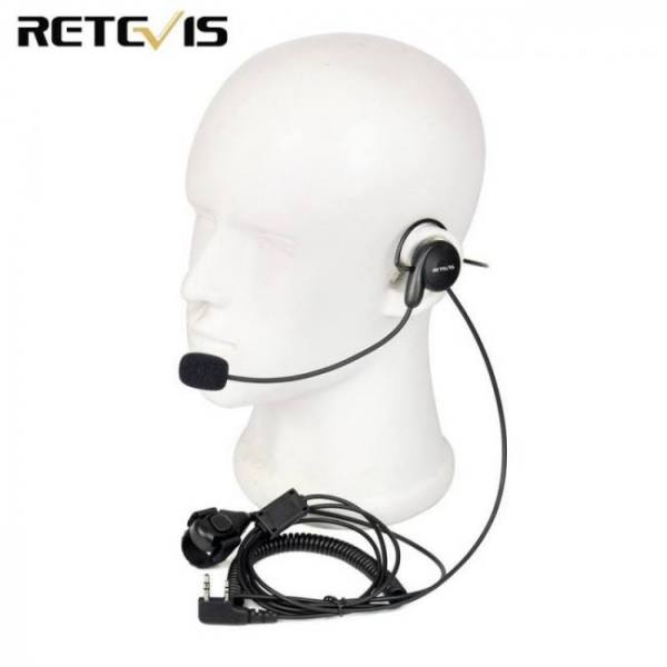 FREE SHIPPING Retevis 2 Pin Earpiece Mic Finger PTT Headset for Kenwood BAOFENG UV-5R BF-888s Retevis H777 TYT Ham Radio Walkie Talkie C9029A 2-Pin