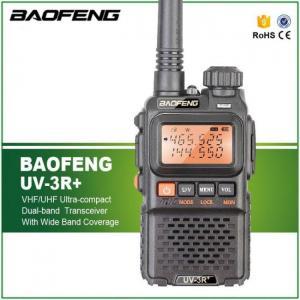FREE SHIPPING BaoFeng UV-3R Plus Walkie Talkie Portable UHF VHF UV 3R+ CB Radio VOX Flashlight Mini FM Transceiver Ham Radio cellphone