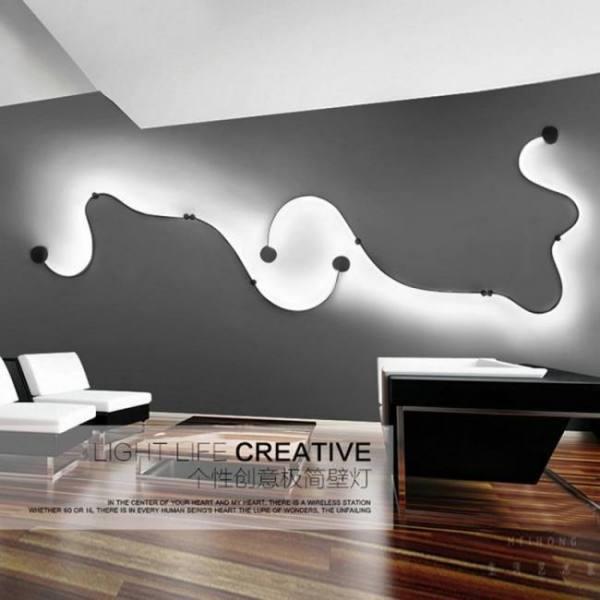 Modern led iron wall lamp home bedroom living room decoration lighting sconce light bed room reading bedside wall lights