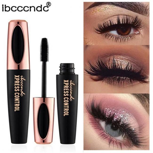 d042e6a317d FREE SHIPPING New 4D Silk Fiber Lash Mascara Waterproof Rimel 3d Mascara  For Eyelash Extension Black