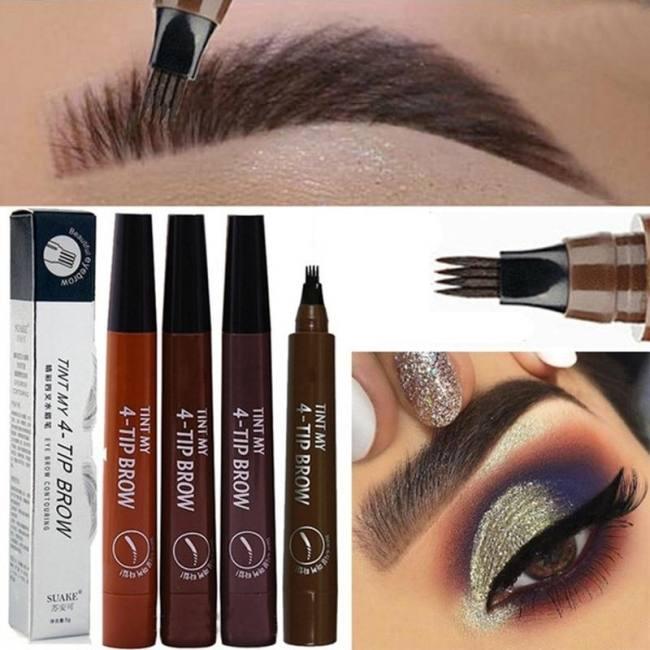 Microblading Eyebrow Pen Waterproof Fork Tip Eyebrow Tattoo Pencil ...