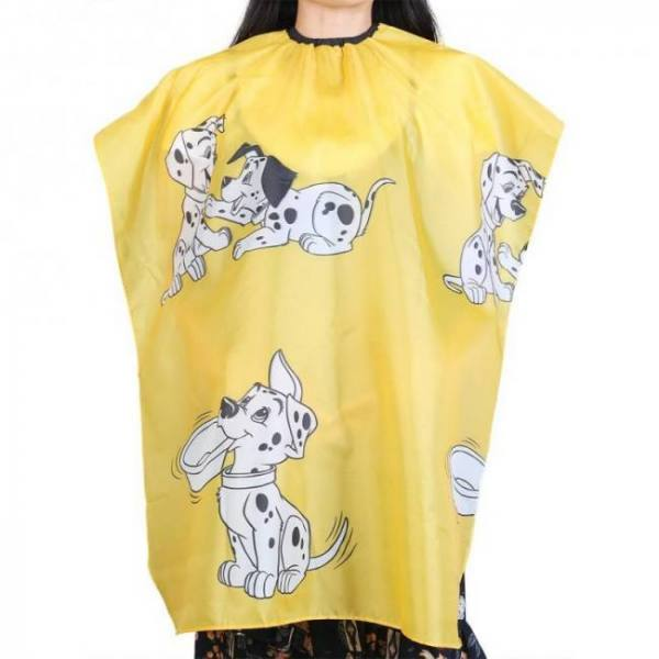 Cartoon dog printed kid hairdressing wrap cape waterproof hair salon barber shop hair styling cut haircut cover cloth wrap