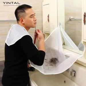 1 pc beard and mustache catcher apron cape bib for shave with suction cups attach to mirror for bearded 120*75 cm