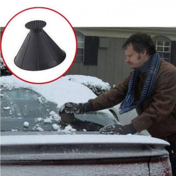 Accessories Auto Car Magic Window Windshield Car Ice Scraper Shaped Funnel Snow Remover Deicer Cone Deicing Tool Scraping ONE Round discount