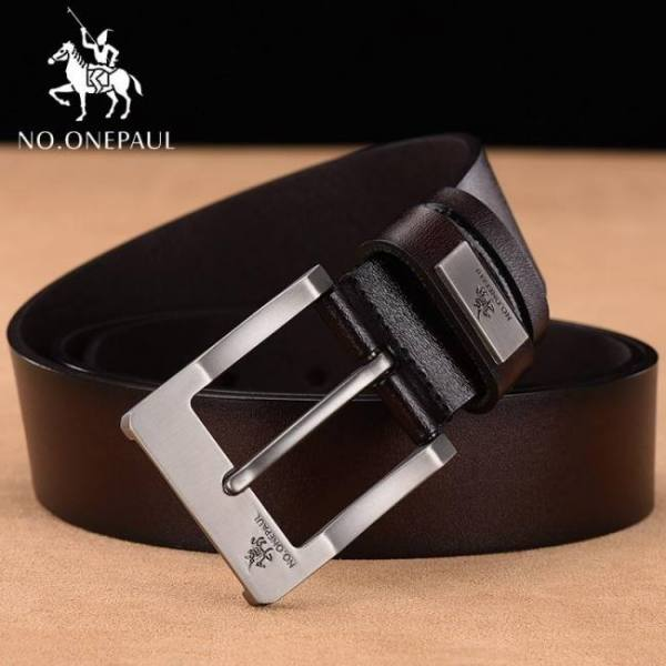 Belts NO.ONEPAUL cow genuine leather luxury strap male belts for men new fashion classice vintage pin buckle men belt High Quality Belt