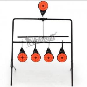 Hot sale 5 targets self resetting spinning air gun rifle shooting metal target set for practice/playing