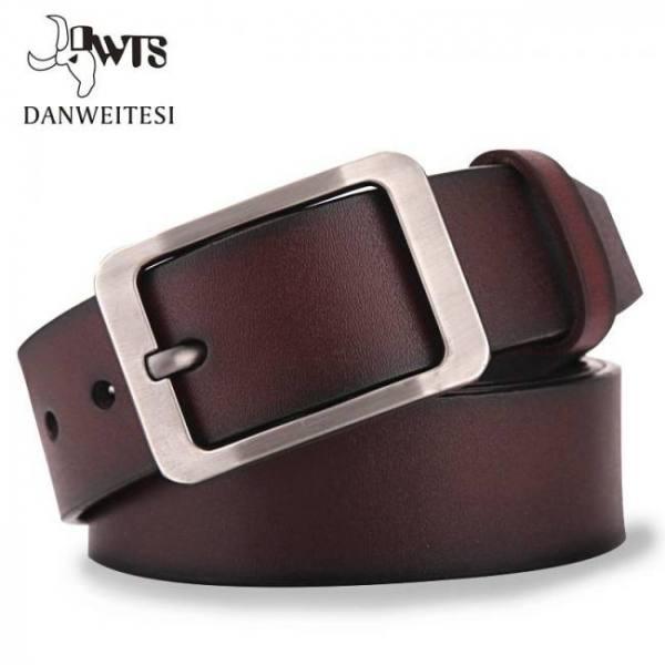 Dwts men's belt leather belt men male genuine leather strap luxury pin buckle casual men's belt