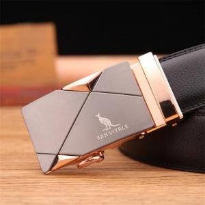 Men's belt fashion 100% genuine leather mens belts for men high quality metal automatic buckles strap male for jeans cowboy