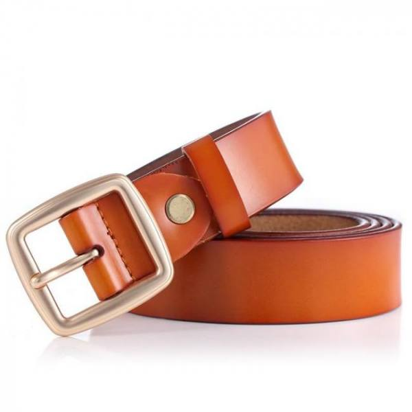 Cowather 2019 women belts cow genuine leather pin buckle for women newest design vintage style belt high quality original brand