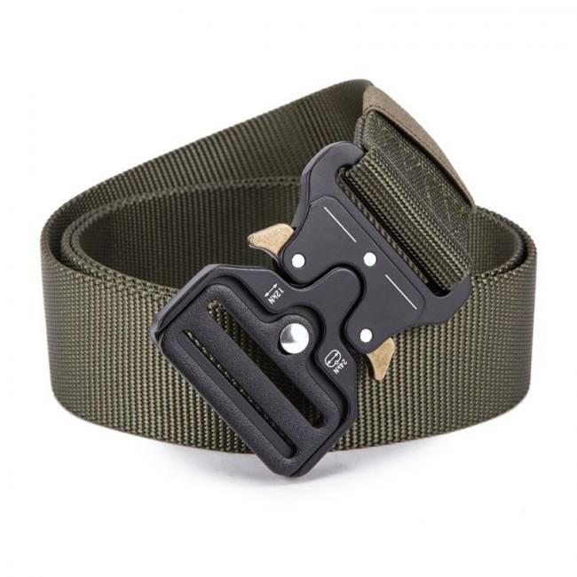 Mens Tactical Military Nylon Belt Outdoo Multifunctional Training Belt Black 140cm
