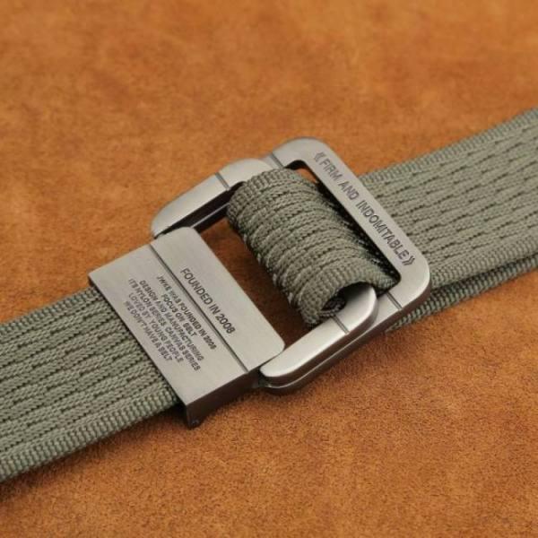 Belts Tactical Belt Man Double Ring Buckle Thick Canvas for Men Waistband MU035 Belt